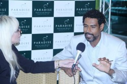 Paradise Laura Renzi entrevistando Dr. MArcos Alexandre Oliveira, da policia Científica que foi palestrante